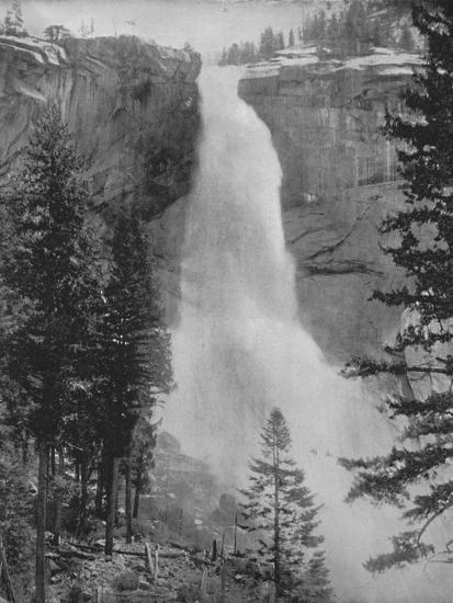 'Nevada Fall in the Yosemite Valley', 19th century-Unknown-Photographic Print