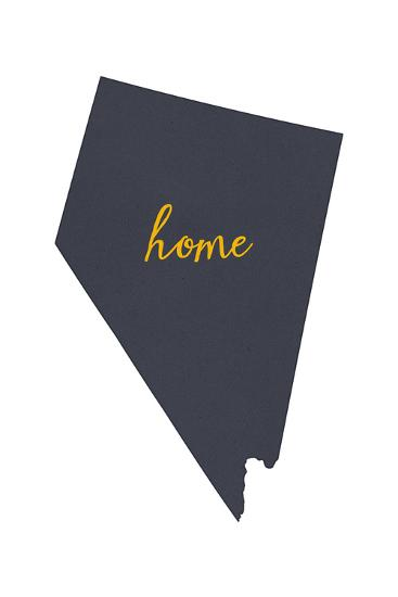 Nevada - Home State - Gray on White-Lantern Press-Art Print