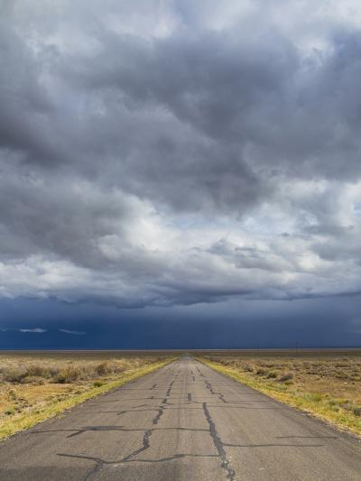 Nevada. Road into Approaching Storm-Jaynes Gallery-Photographic Print
