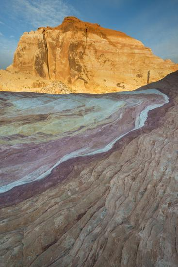 Nevada, Valley of Fire State Park. Erosion Shaped Abstract Design from Layered Sandstone-Judith Zimmerman-Photographic Print