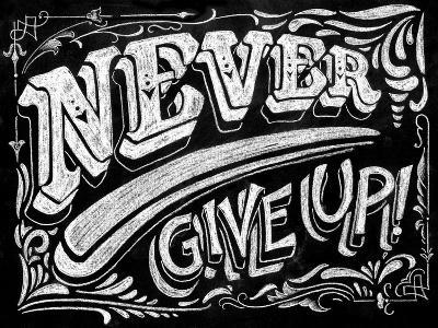 Never Give Up-CJ Hughes-Giclee Print