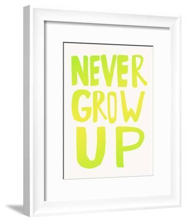 Never Grow Up X Lemon Lime-Leah Flores-Framed Art Print