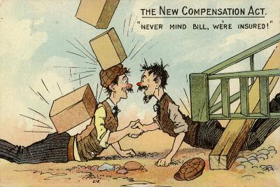 """""""Never Mind Bill, We'Re Insured!""""--Giclee Print"""