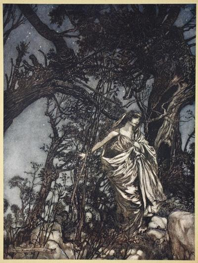 Never So Weary Never So in Woe, Illustration from 'Midsummer Nights Dream' by William Shakespeare-Arthur Rackham-Giclee Print