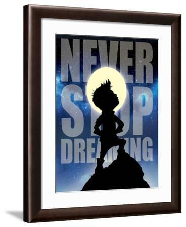 Never Stop Dreaming-Mischief Factory-Framed Giclee Print