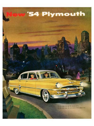 New '54 Plymouth--Art Print