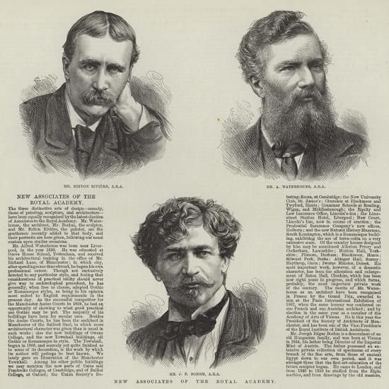 New Associates of the Royal Academy--Giclee Print