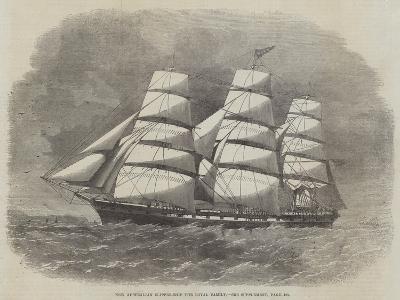 New Australian Clipper-Ship the Royal Family--Giclee Print