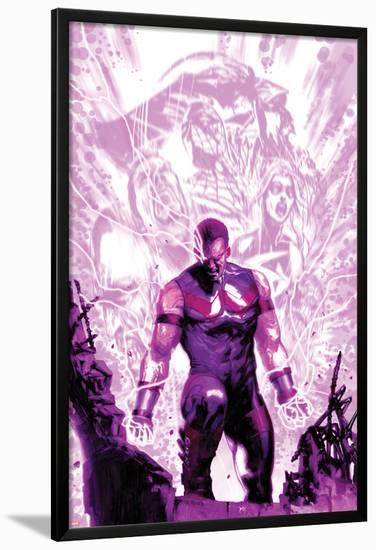 New Avengers Annual No.1 Cover: Wonder Man Walking with Energy-Gabriele DellOtto-Lamina Framed Poster