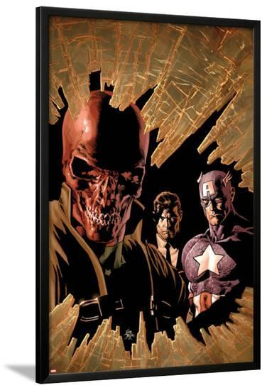 New Avengers No.12 Cover: Red Skull, Captain America, and Nick Fury-Mike Deodato-Lamina Framed Poster