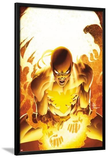 New Avengers No.25 Cover: Iron Fist Screaming-Mike Deodato-Lamina Framed Poster