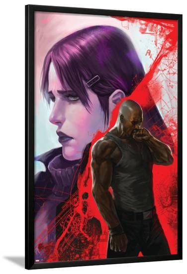 New Avengers No.38 Cover: Cage, Luke, Jones and Jessica--Lamina Framed Poster