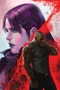 New Avengers No.38 Cover: Cage, Luke, Jones and Jessica