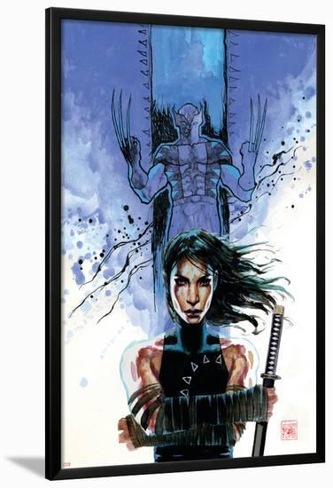 New Avengers No.39 Cover: Echo and Wolverine-David Mack-Lamina Framed Poster