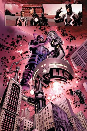 New Avengers No. 4: Galactus, Mr. Fantastic, Iron Man, Black Panther, Black Bolt