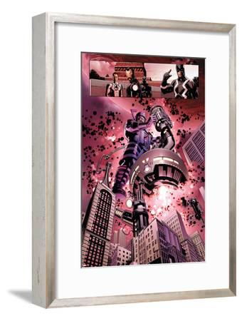 New Avengers No. 4: Galactus, Mr. Fantastic, Iron Man, Black Panther, Black Bolt