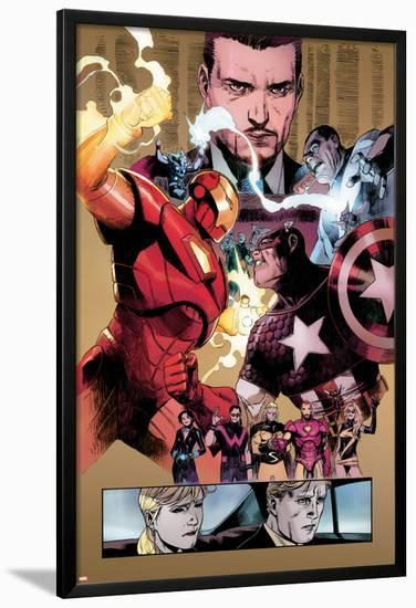 New Avengers No.48 Group: Captain America, Spider Woman, Ronin and Wolverine-Billy Tan-Lamina Framed Poster