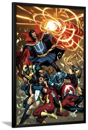 New Avengers No.53 Cover: Dr. Strange-Billy Tan-Lamina Framed Poster