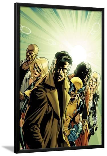 New Avengers No.6 Cover: Dr. Strange, Wolverine, Ms. Marvel, Luke Cage, Doctor Voodoo & Mockingbird-Stuart Immonen-Lamina Framed Poster