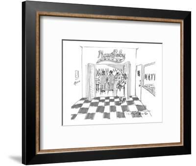 New Baby Lounge. - New Yorker Cartoon-Michael Crawford-Framed Premium Giclee Print