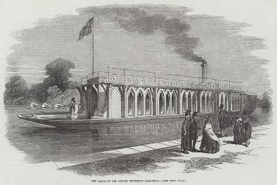 New Barge of the Oxford University Boat-Club--Giclee Print