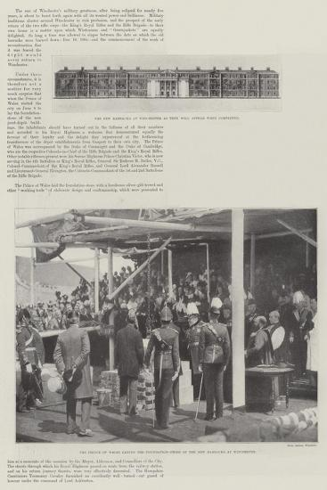 New Barracks at Winchester--Giclee Print