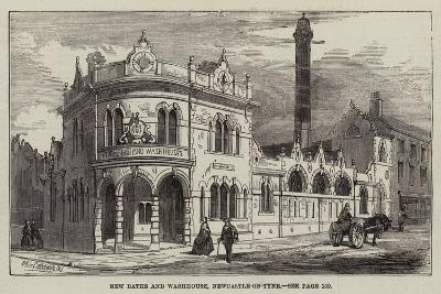 New Baths and Washhouse, Newcastle-On-Tyne--Giclee Print