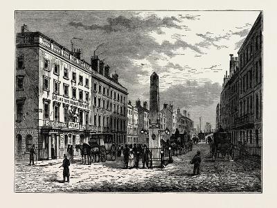 New Bridge Street and the Obelisk in 1795, London--Giclee Print