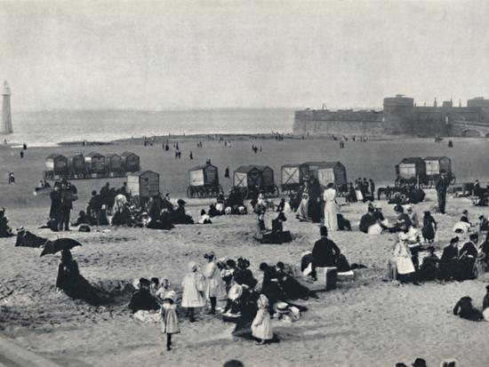 'New Brighton - Showing the Port and the Lighthouse', 1895-Unknown-Photographic Print