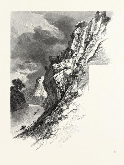 New Brunswick, Plaster Rocks, Tobique River, Canada, Nineteenth Century--Giclee Print