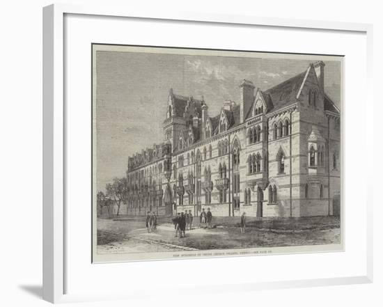 New Buildings of Christ Church College, Oxford--Framed Giclee Print