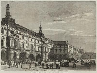 New Buildings of the Tuileries in the Place Du Carrousel-Michel Charles Fichot-Giclee Print