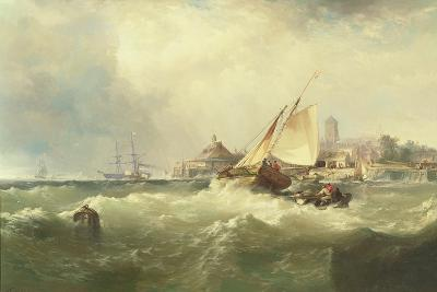 New Castle on the Delaware, 1857-Edward Moran-Giclee Print