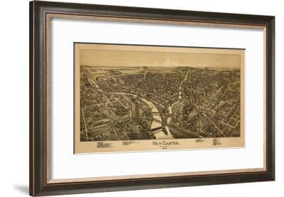 New Castle, Pennsylvania - Panoramic Map-Lantern Press-Framed Art Print