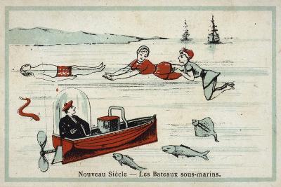 New Century - Underwater Boats--Giclee Print