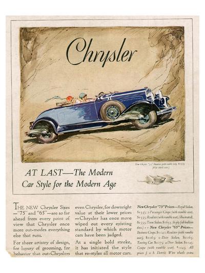 New Chrysler 75-The Modern Car--Art Print