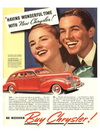 New Chrysler - Wonderful Time--Art Print