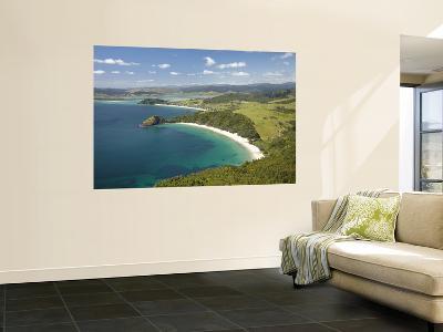 New Chums Beach, and Motuto Point, Coromandel Peninsula, North Island, New Zealand-David Wall-Wall Mural