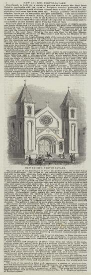 New Church, Argyle-Square--Giclee Print