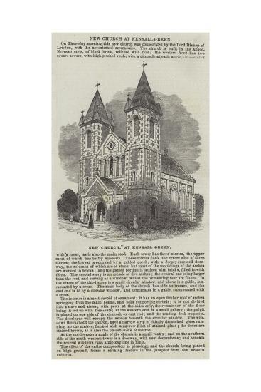New Church, at Kensall Green--Giclee Print