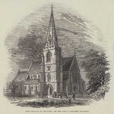 New Church at Swindon, on the Great Western Railway--Giclee Print
