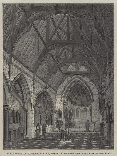 New Church in Tottenham Park, Wilts, View from the West End of the Nave--Giclee Print