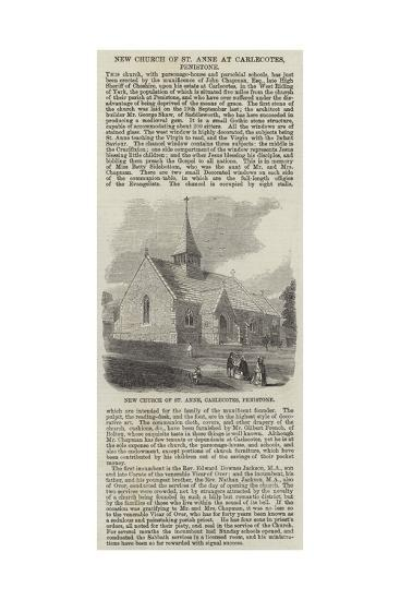 New Church of St Anne at Carlecotes, Penistone--Giclee Print