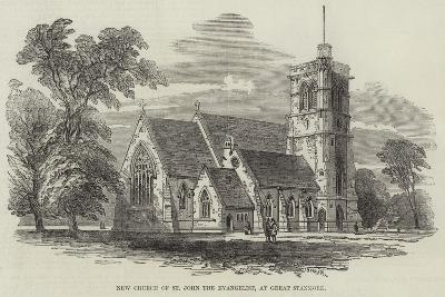 New Church of St John the Evangelist, at Great Stanmore--Giclee Print