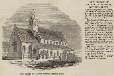 New Church of St Simon Zelotes, Bethnal-Green--Giclee Print