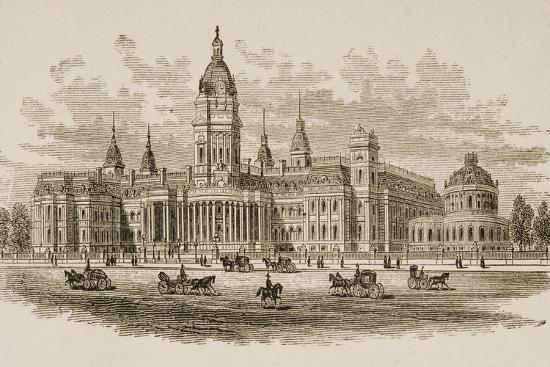 New City Hall, San Francisco, from 'American Pictures', Published by the Religious Tract Society,…-English School-Giclee Print