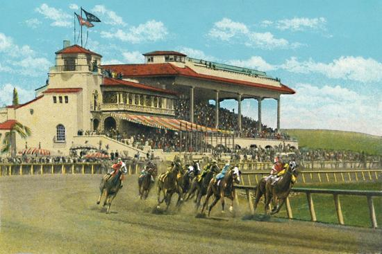 'New Club House and Grand Stand, Agua Caliente Jockey Club', c1939-Unknown-Giclee Print