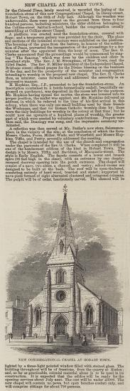 New Congregational Chapel at Hobart Town--Giclee Print