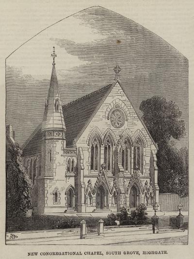 New Congregational Chapel, South Grove, Highgate--Giclee Print