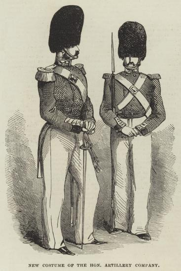 New Costume of the Honourable Artillery Company--Giclee Print